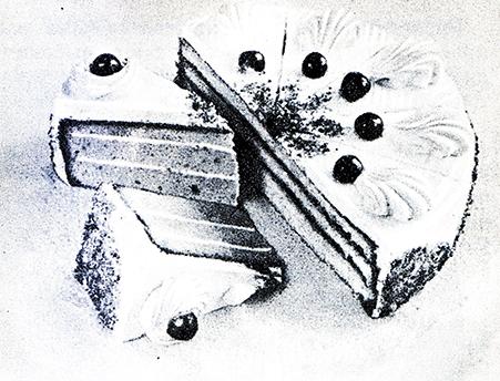 207. Порции бисквитных тортов